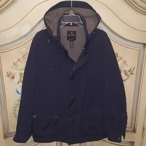 Brooks Brothers Men's Navy Harrington Jacket
